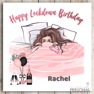 Isolation Lockdown Virus Birthday Card Mum Wife Sister Niece Daughter Friend HQ
