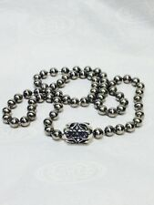 """BILL WALL 6mm STAINLESS 24"""" BALL CHAIN with STERLING CLASP & BWL COVER"""