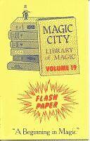 FLASH PAPER BOOK #19 Magic Trick Book Effects Fire Flame Illusion