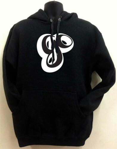 "New Men/'s Printed /""GO/"" Fleece Pullover Black Graphic Design Hoodie All Size"
