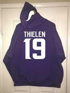 meet 4d300 aa725 Details about Minnesota Vikings Adam Thielen Jersey Style Hoodie Hoody  Hooded Sweatshirt