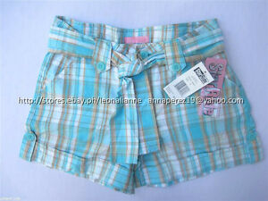 73-OFF-AUTH-STAR-RIDE-GIRL-039-S-BELTED-ROLL-UP-PLAID-SHORTS-SIZE-7-BNWT-US-22