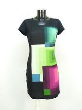Desigual vestido talla S/multicolor con patrones & nuevo con etiqueta (m 2927)