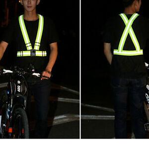 Men Women Colorful Safe Reflective Vest Belt Night Running Jogging Chaleco