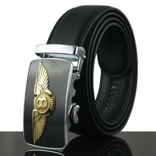 Fashion Men/'s Leather Belt Bentley Automatic Buckle Belt Ratchet Strap Waistband
