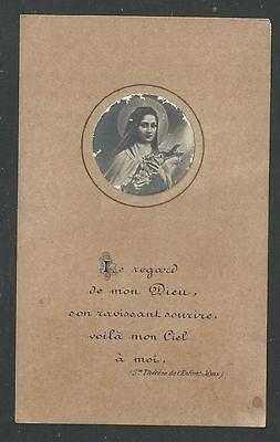 Activo Estampa Antigua De Santa Teresita Santino Holy Card Image Pieuse Paquetes De Moda Y Atractivos
