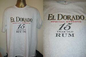 EL DORADO SPECIAL RESERVE 15 YEAR OLD RUM PRINT T SHIRT- GREY- EXTRA LARGE WJe1acYa-09105500-110824421