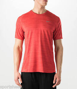 800df5bb93d67 Mens Nike Dri-fit Cool Running Shirt Red Size Large 718348 647  55 ...
