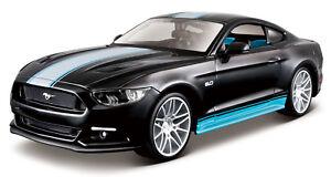 FORD-Mustang-GT-2015-1-24-Kit-Auto-modello-SCALA-DIECAST-DIE-CAST-GIOCATTOLO-di-montaggio