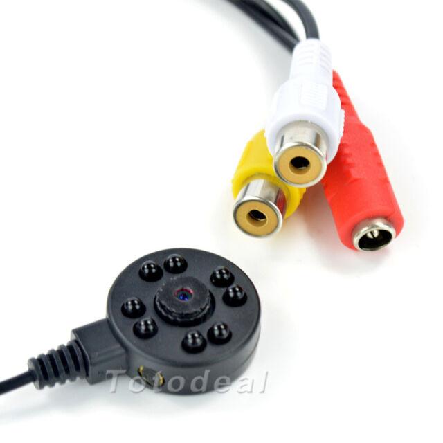 Night Vision Security Micro Camera HD Mini CCTV Hidden & Audio Wired Camera