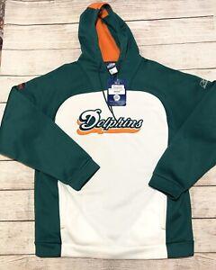 New-Miami-Dolphins-NFL-Reebok-Team-Apparel-Logo-Hoodie-Sweatshirt-Size-Large-95