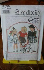Vtg-Cinderella-Simplicity-8769-girls-dress-full-skirt-short-jacket-sz-4-6-UNCUT
