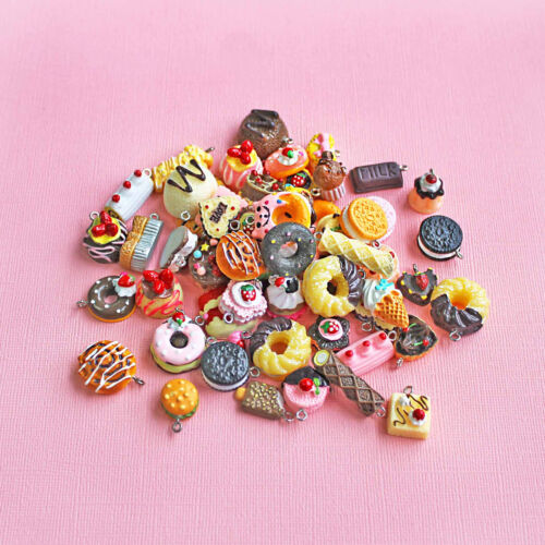 4 Candy Charms Cute Assortment of Treats with Attached Eye Hooks Acrylic E214