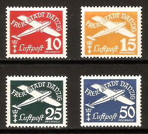 DR-Danzig-Nazi-Reich-Rare-WW2-Stamp-1938-Airmail-Aircraft-Flugpost-Classic-Avia