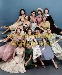 1950's eileen ford models group shot  hires pro