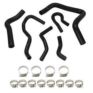 Silicone-Radiator-Hose-For-HONDA-CIVIC-TYPE-R-EK-EG-B16A-B18C-EX-SI-KIT-Black
