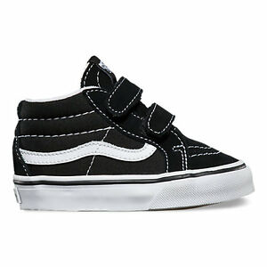 9ffe9fd920 Vans SK8-Mid Reissue V Black   True White Toddlers Shoes New In Box ...