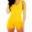 Women Shirt Lady Top Blouse Bodysuit Leotard Stretch Jumpsuit Sleeveless Romper