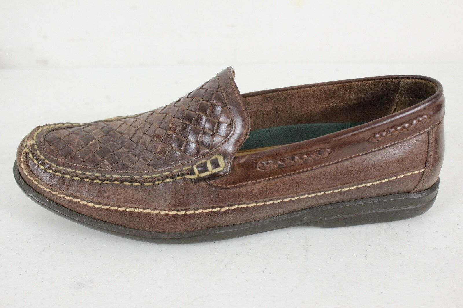 Men's Johnston & Murphy Dress Loafer Brown Weave Leather 10 M