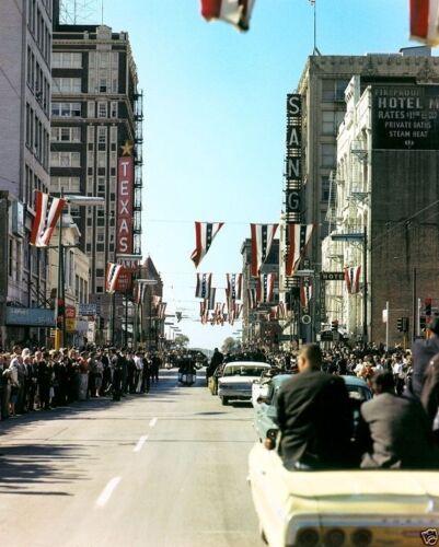New 8x10 Photo Kennedy motorcade in downtown Dallas JFK President John F
