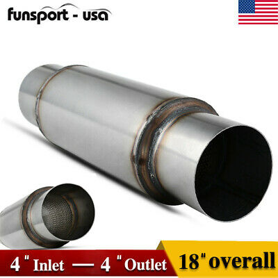 """Silencer Straight Through High Performance 18/"""" Overall 5/"""" Inlet//Outlet Muffler"""