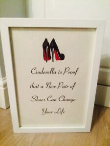 266c637f149 ... coupon for image is loading christian louboutin cinderella shoes  fashion quote print art 7cfef 2e5b7 ...