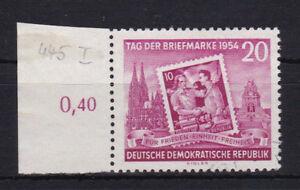 DDR 445 I schwach gestempelt Plattenfehler 1954 Michel 200,00 € used