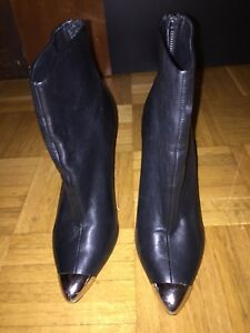 Absatz Zara Damen Metall Und Metallspitze Gr Details Halbstiefel Stiefelette Stiefel Zu 38 ED92IWHY
