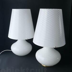 1-2-Murano-Due-Leucos-Paralume-Grande-74cm-Tischlampe-Vetri-Murano-Spiralglas