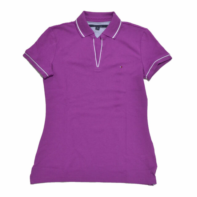 aefb039e32f Tommy Hilfiger Polo Womens Knit Top Buttonless Open Neck Classic Fit ...