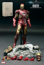 2013 Iron Man Battle Damaged Mark VII Hot Toys MMS 196 Avengers Sealed Brown Box