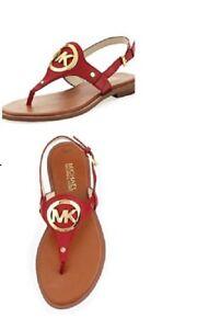 Michael Kors Aubrey Charm Thong Sandals Flip Flops Size