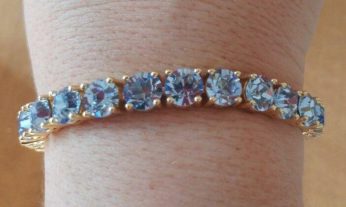 Park Lane bluee CZ gold Tone Impression Bracelet 7  - 8.5