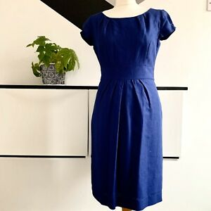 LK-BENNETT-Dress-Size-12-BLUE-SMART-Occasion-WEDDING-Cruise-RACES-Office