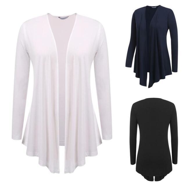 Women Casual Long Sleeve Solid Open Front Cardigan B98B 15