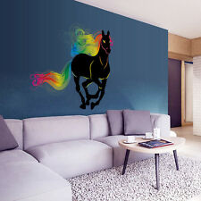 Removable 3D Black Horse Wall Stickers Decoration Wall Poster Decals Home Decor