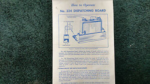 LIONEL-334-DISPATCHING-BOARD-INSTRUCTIONS-PHOTOCOPY