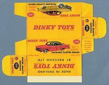 DINKY TOYS 180 : PACKARD CLIPPER box boite repro reprobox refabrication copie