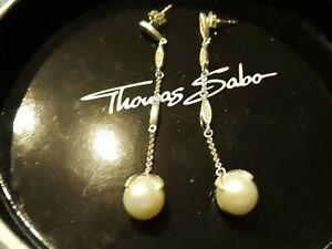 online zum Verkauf verschiedene Farben bis zu 80% sparen Details zu Thomas Sabo Ohrringe Ohrstecker Ohrhänger mit perlen