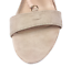 thumbnail 9 - Womens Ladies Beige Faux Suede High Heel T-Bar Party Sandals Shoes Size UK 7 New