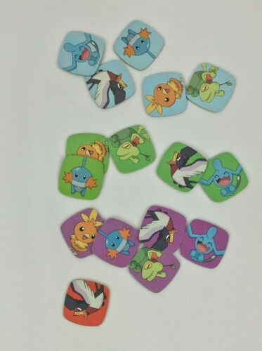 Game Parker Brothers 2004 Replacement Game Parts Dice Tokens Pokemon Yahtzee Jr