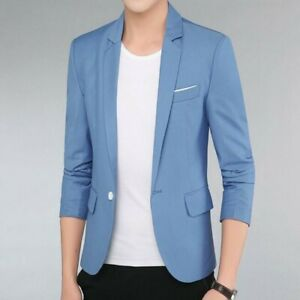 Spring-Men-Coats-One-Button-Lapel-Slim-Fit-Korean-Casual-Jackets-Outwear-Stylish
