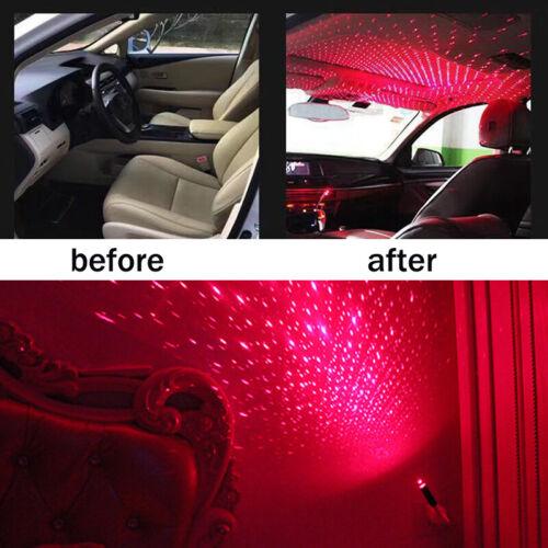 1PC 5V USB LED Car Interior Ceiling Star Light Decoration Lazer Projector Lamp