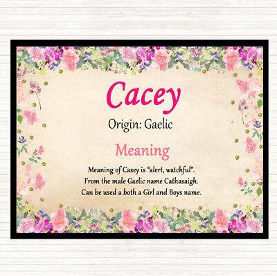 Fornitura Nome Cacey Significato Tavola Tovaglietta Americana Floreale-