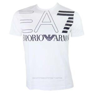 Emporio-Armani-EA7-T-shirt-uomo-manica-corta-mod-6gpt11-colore-bianco