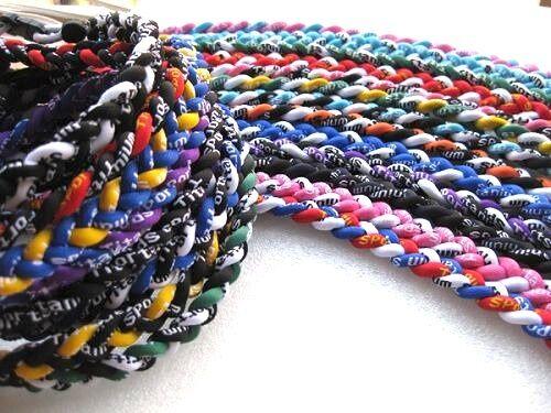 """Fundraiser Lot of 50 Wholesale Titanium Tornado Sports Necklaces Cheap 24/"""" Adult"""