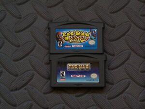 Lot of 2 Nintendo Game Boy Advance GBA Games Pac-Man Pinball Pac-Man Collection