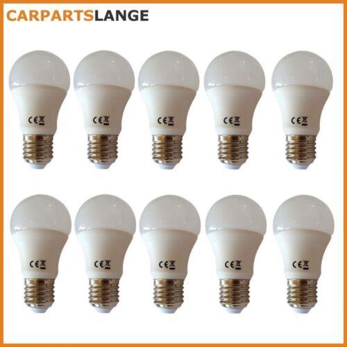 NEU 10x LED Glühlampe Leuchtmittel 10W warmweiss Kugel Milchglas 800lm EEK A