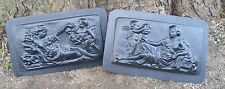 abs plastic set of 2 roman lady molds plaster concrete mould
