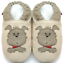 Indexbild 1 - minishoezoo soft sole leather baby shoes boy toddler dog beige 18-24m US 7-8